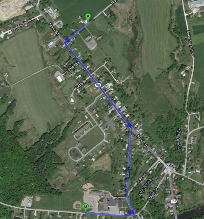 The Fairfax Parks & Recreation Department 4th of July Parade Route